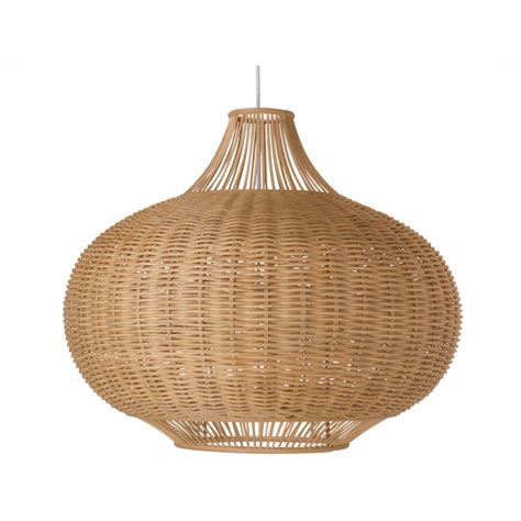 Wicker Pendant Lights Wicker Pear Shaped Pendant L Large