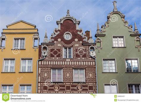 Historical House Plans historical tenement house gdansk poland stock image