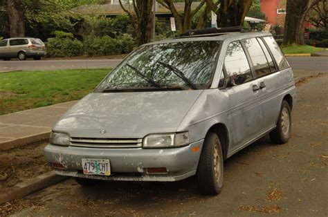 old nissan van old parked cars 1990 nissan axxess