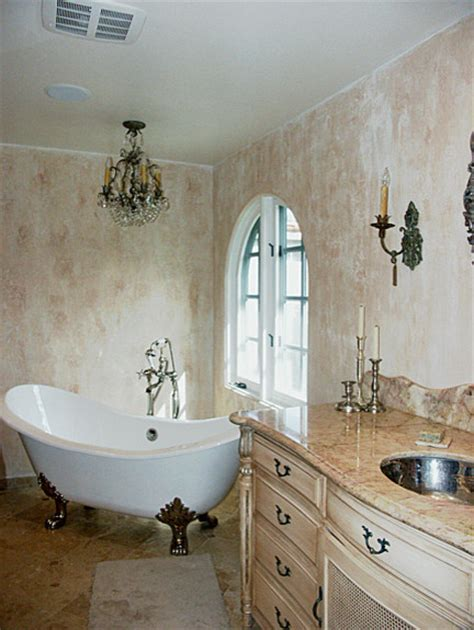 Bathrooms With Chandeliers Master Bathroom Addition Faux Finishes Chandelier Mediterranean Bathroom