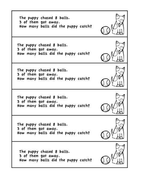 Word Problems Math Mba by Math Word Problems Kindergarten Printing Printable