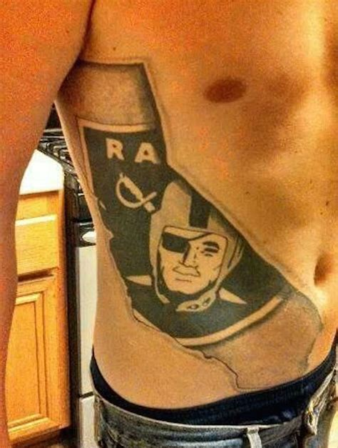 oakland tattoo 52 best oakland raiders tattoos