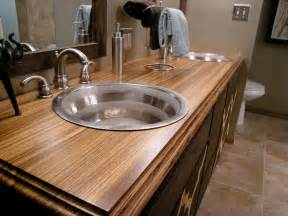 bathroom vanity countertop ideas bathroom countertop material options hgtv