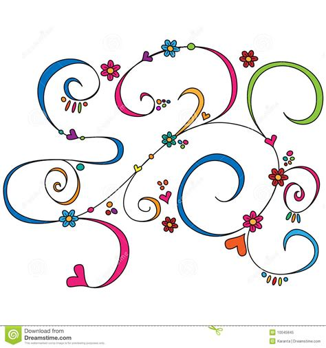 free doodle ornament colorful doodle ornament royalty free stock photo image