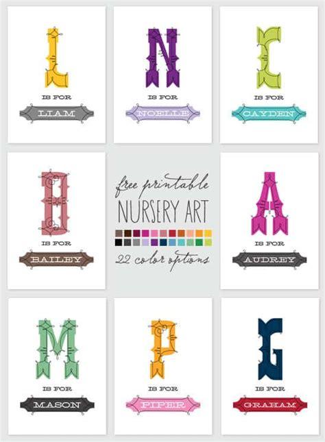 printable wall art names 30 favorite free printables