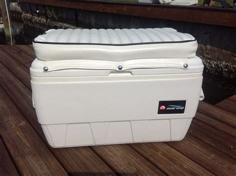 cooler seat for a boat igloo cooler seat with cushion 50 the hull truth