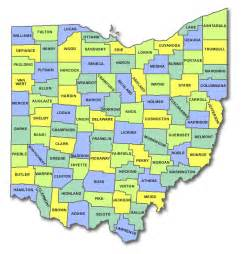 state of counties map ohio cart licensing county state and