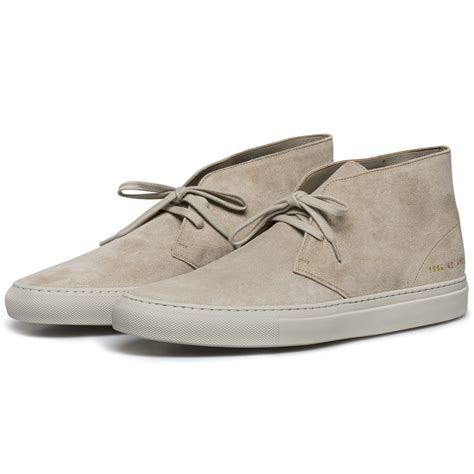 by common projects boots common projects suede chukka boots in for lyst
