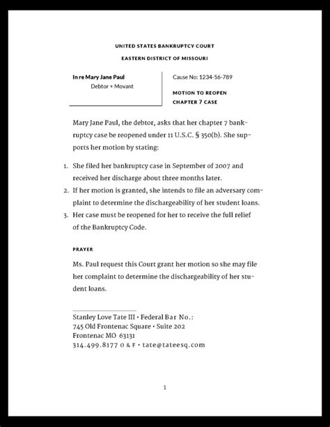 Loan Discharge Letter Format Best Photos Of Sle Motion To Compel Bankruptcy Motion Compel Discovery Sle Sle