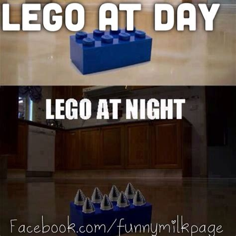 Funny Lego Memes - on your children leave their legos out at night doesn t