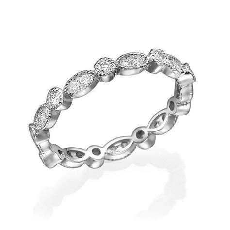 eternity ring white gold ring eternity band ring