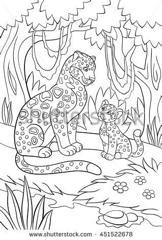 jungle cubs coloring pages elephant jungle coloring page mandala style stock vector