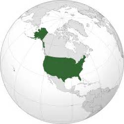 united states on a world map location of the united states in the world map