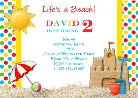 birthday invites top 10 beach birthday invitations ideas