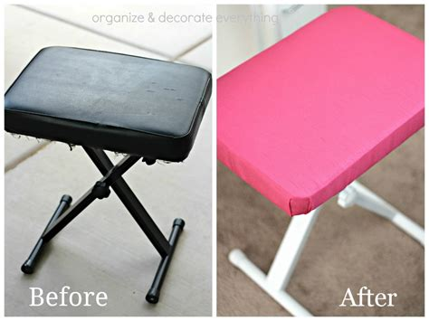 before and after bench press easy way to reupholster a bench the crafting chicks