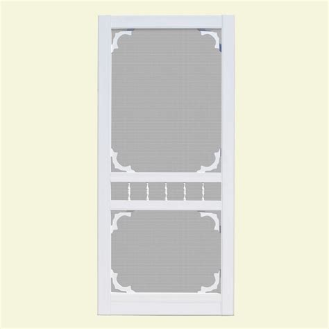 36 X 80 Vinyl Screen Door by Unique Home Designs 36 In X 80 In Hatteras White