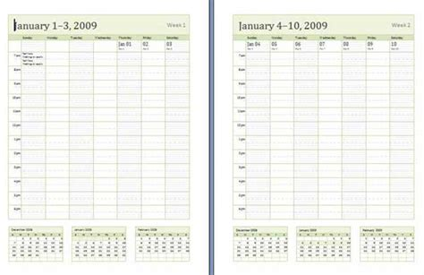 weekly planner template microsoft calendar template 2016