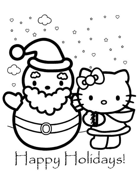 christmas kitty coloring page hello kitty christmas coloring pages learn to coloring