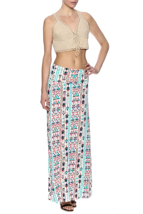 lolly aztec maxi skirt from new york city by local