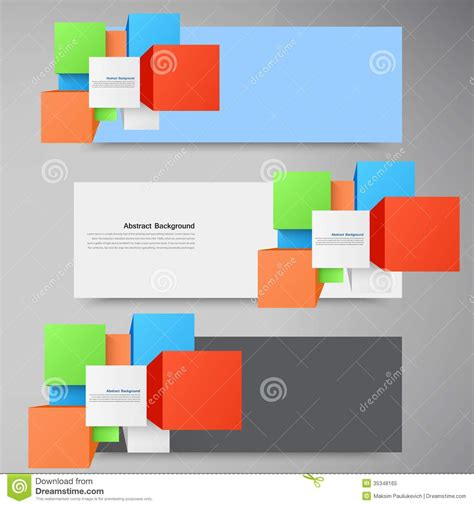 eps format is vector abstract background square and 3d object royalty