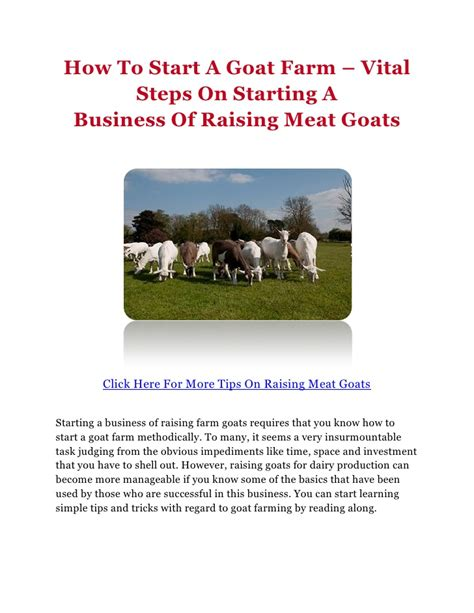 Starting A Small Home Farm How To Start A Goat Farm Vital Steps On Starting A