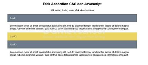 membuat website dengan html css dan javascript membuat efek accordion collapse dengan css dan javascript