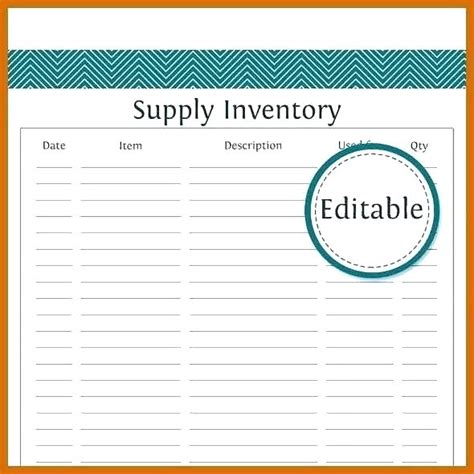 Office Supply Checklist Template Excel Optional Cleaning Supplies List Elementary School Word Dental Supply Inventory Template