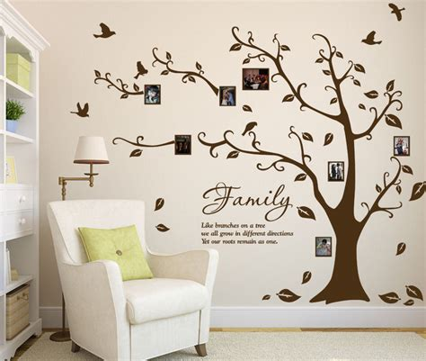 Wallsticker Wall Sticker In Uk60x90 family photo tree birds vinyl wall sticker diy wall decal high quality ebay