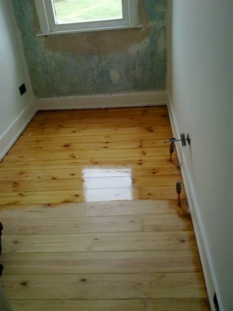 Before and after, Floors sanded, gap filled and oiled in