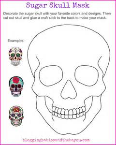 blank sugar skull template bilingual dia de los muertos day of the dead printable