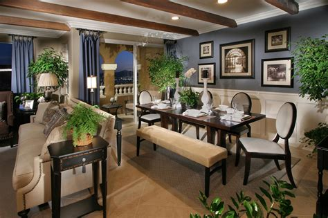 color schemes for open floor plans gorgeous open dining room decors with midcentury wooden