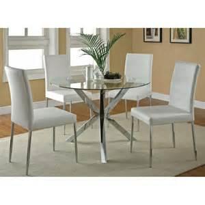 Modern Kitchen Table Set Clio Modern Glass Kitchen Table Set Ugalleryfurniture With Glass Kitchen Tables Regarding