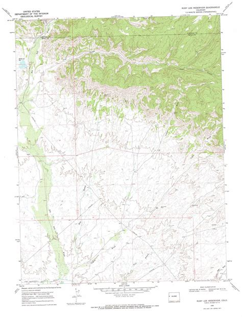 ruby map ruby reservoir topographic map co usgs topo 39108c6