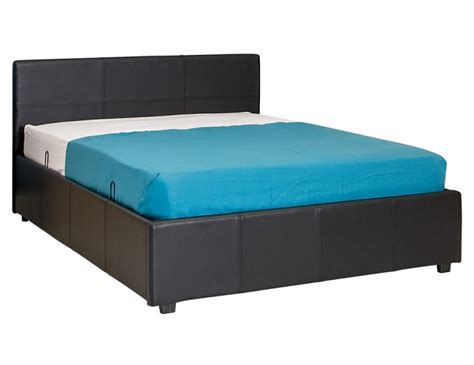 side lift ottoman bed gfw side lift ottoman 3ft single black faux leather bed