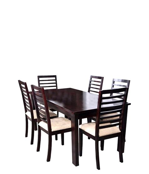 Ethnic India Madrid 6 Seater Sheesham Wood Dining Set With Table Buy Ethnic India Ethnic India Tirana 6 Seater Sheesham Wood Dining Set In Mahogany Finish Buy Ethnic India