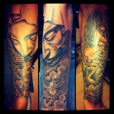 heaven and hell sleeve tattoo designs 17 best ideas about stairway to heaven on