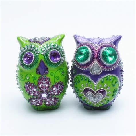 purple and green home decor purple green owl lovers wedding cake topper home decor s p
