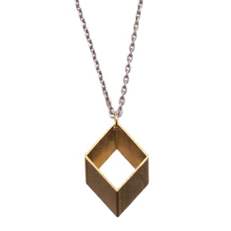 Necklace Shain Gold Kalung Shain Gold rhombus necklace we are all smith touch of modern