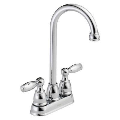 delta foundations 2 handle kitchen faucet chrome delta foundations 2 handle bar faucet in chrome b28911lf