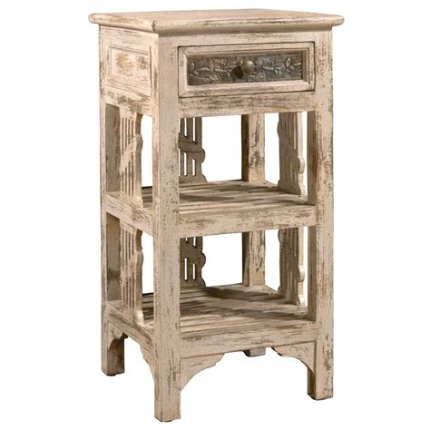 white distressed end tables hillsdale furniture alena distressed whitewash end table
