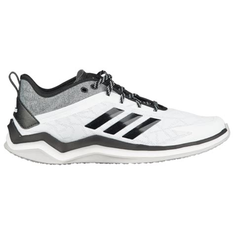 adidas speed trainer  mens baseball shoes white