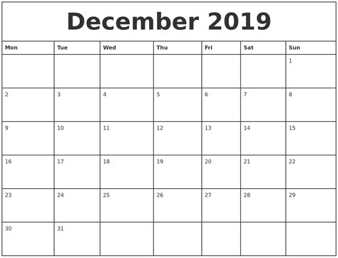 printable monthly calendars with pictures december 2019 printable monthly calendar