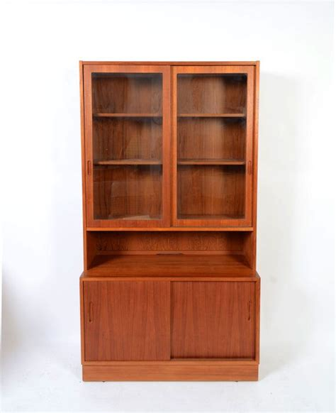 teak china cabinet paul hundevad teak china cabinet bookcase 1960