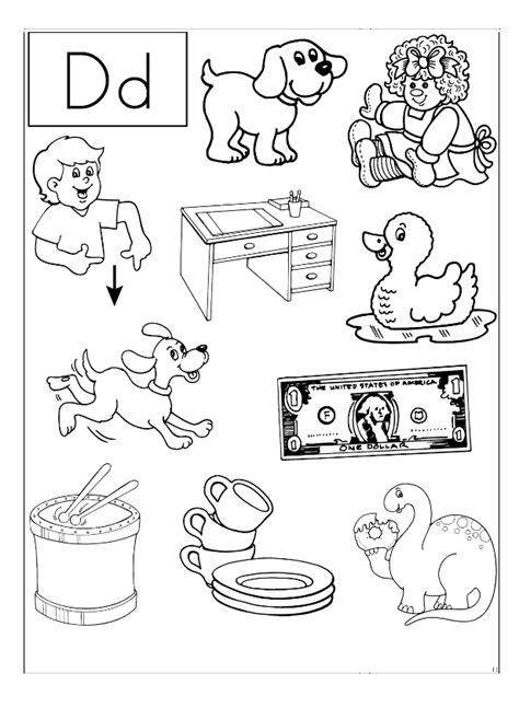d coloring pages for kindergarten 28 the letter d worksheets printable trace letter d