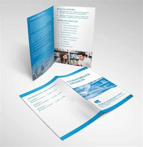 two fold brochure template psd 15 free bifold brochure mockup psd for print design