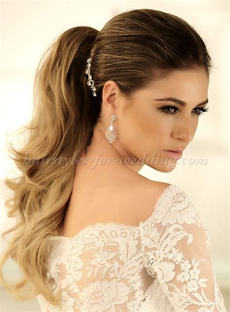 Wedding Hairstyles For Medium Length Hair Side Ponytail by Ponytail Hairstyles Ponytail Wedding Hairstyle