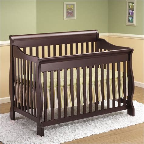 Cribs For Sale Cheap by Orbelle 4 In 1 Convertible Wood Crib In Cherry Review