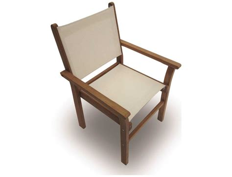 teak sling chair royal teak collection captiva white sling stackable dining