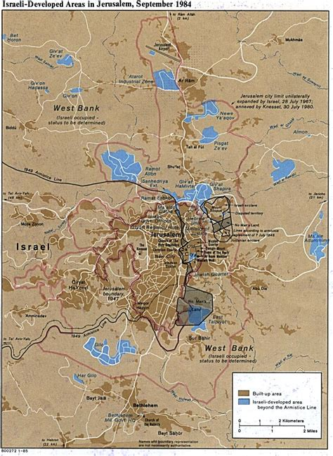 map of jerusalem israel