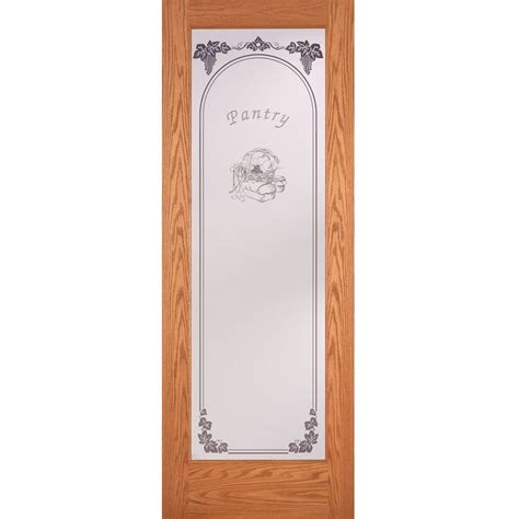 interior glass doors home depot feather river doors 28 in x 80 in pantry woodgrain 1